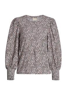 Nation Ltd. Loren Slim-Fit Leopard Blouse