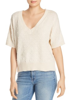 Nation Ltd. Nation LTD Gigi Popcorn-Stitched V-Neck Sweater