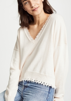 Nation Ltd. Nation LTD Jolie Boxy Ultra Deep V Sweater