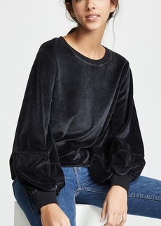 Nation Ltd. Nation LTD Kiera Velvet Lantern Sleeve Top