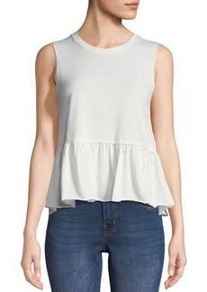 Nation Ltd. Nation LTD Lafayette Peplum Crop Top
