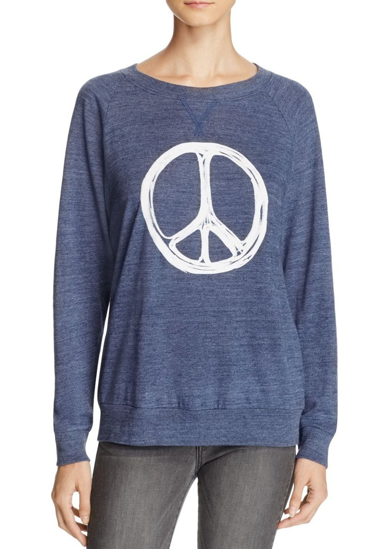 Nation Ltd. Nation LTD Peace Sign Raglan Pullover - 100% Bloomingdale's Exclusive