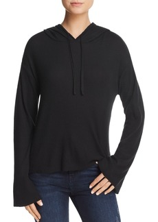 Nation Ltd. Nation LTD Ribbed Flared-Sleeve Hoodie
