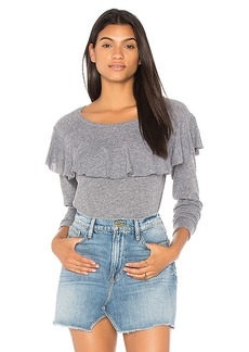 Nation Ltd. Nation LTD Ruffle Long Sleeve Sweater in Gray. - size M (also in S,XS)