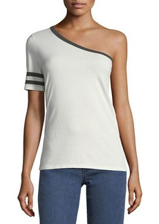 Nation Ltd. Nation LTD Yorkville One-Shoulder Rugby Tee