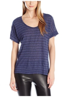 Nation Ltd. Nation Women's Anderson Scoop Neck Tee+B1  M
