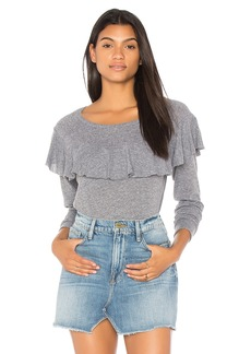 Nation Ltd. Ruffle Long Sleeve Sweater