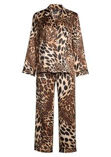 Natori 2-Piece Leopard Print Pajama Set