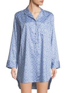 Natori Abstract Maze-Print Cotton Sleepshirt