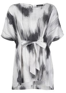 Natori abstract-print tie-waist top