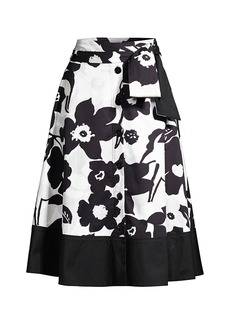 Natori Anemone Garden Button-Down Skirt