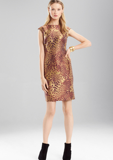 Animal Jacquard Sleeveless Dress