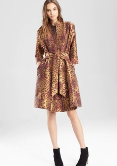 Natori Animal Jacquard Trench Dress