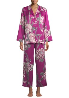 Natori Aziome Notch-Collar Pajama Set
