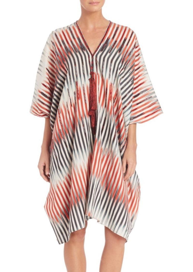 Natori Beachy Cotton & Silk Blend Caftan