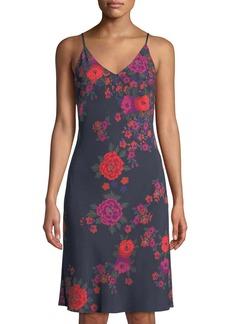 Natori Botanica V-Neck Charmeuse Nightgown