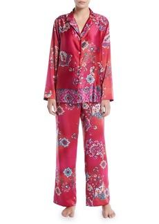 Natori Buddakan Classic Satin Pajama Set
