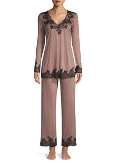 Josie Natori Charlize Two-Piece Pajama Set