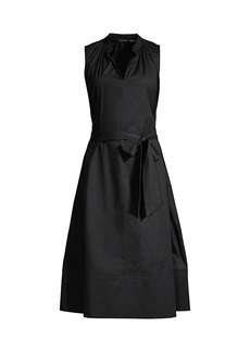 Natori Cotton Poplin Mandarin Dress