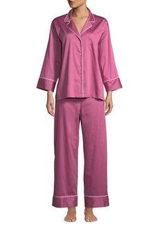 Natori Cotton Sateen Pajama Set
