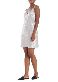 Natori Decadance Leopard Satin Slip Dress
