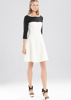 Double Knit Jersey 3-4 Sleeve Color Block Dress
