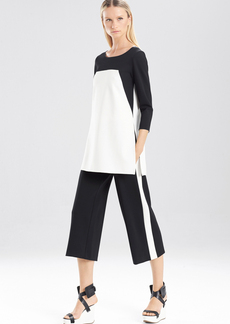 Double Knit Jersey 3-4 Sleeve Color Block Tunic