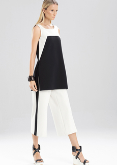 Double Knit Jersey Color Block Swing Tunic