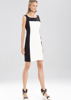 Double Knit Jersey Sleeveless Color Block Dress