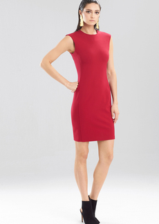 Double Knit Jersey Sleeveless Shift Dress