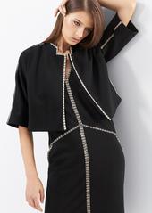 Natori Double Knit Jersey Wedge Dress