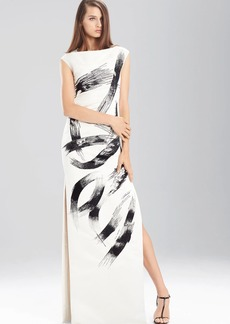 Natori Duchess Satin Boatneck Dress