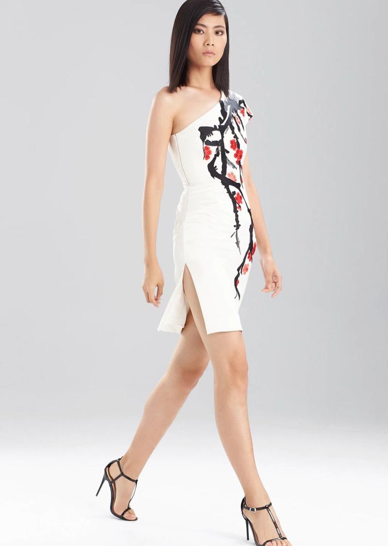 Natori Duchess Satin One Shoulder Dress
