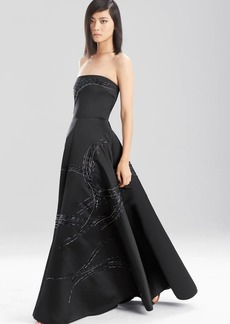 Natori Duchess Satin Strapless Dress