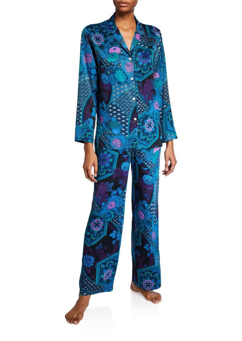 Natori Empress Floral-Print Pajama Set