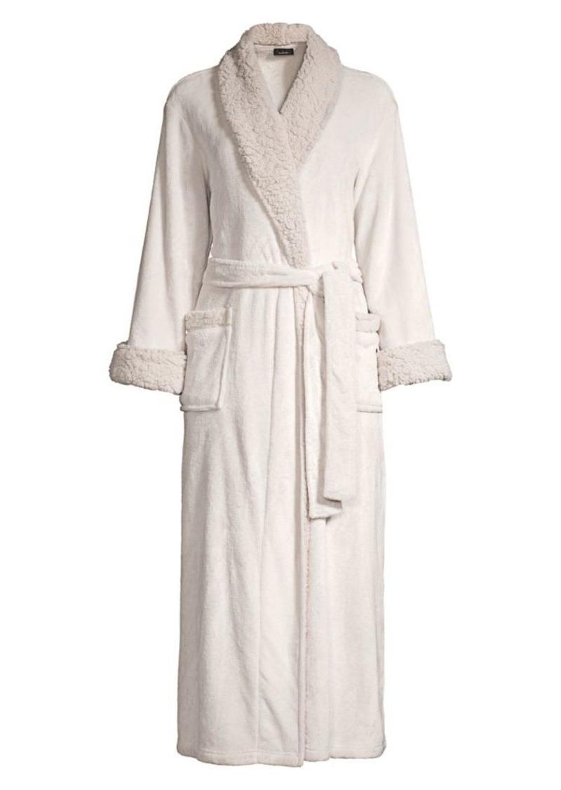 Natori Faux-Shearling Sherpa Robe