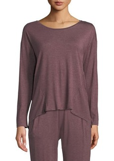 Natori Feathers Elements Long-Sleeve Lounge Top