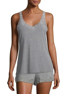 Natori Feathers Lace-Trim Tank