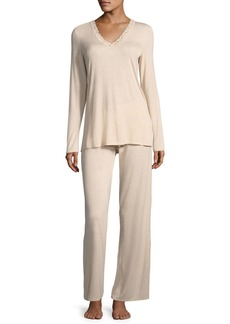 Natori Feathers Long-Sleeve Pajama Set