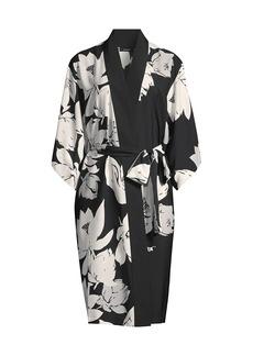 Natori Floral Belted Robe