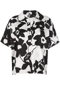 Natori floral-print boxy shirt