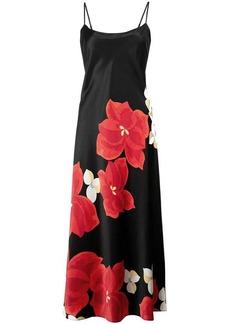 Natori floral print flared dress