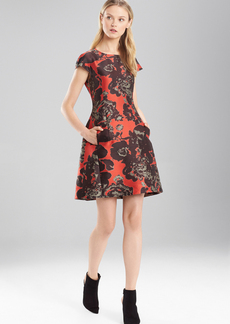 Flower Jacquard Dress
