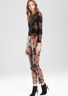 Flower Jacquard Pants