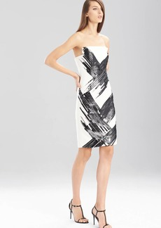 Natori Fluid Crepe Strapless Dress