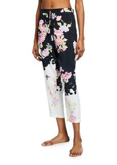 Natori Gardenia Floral-Print Lounge Pants