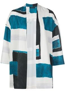 Natori geometric-print cardigan