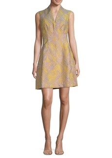 Natori Graphic Texture A-Line Dress
