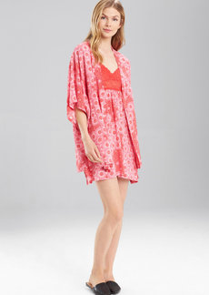 Natori Josie Challis Happi Coat Red Pink