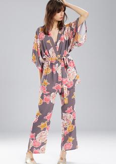 Josie Enchanted Garden Happi Coat Charcoal With Hibiscus